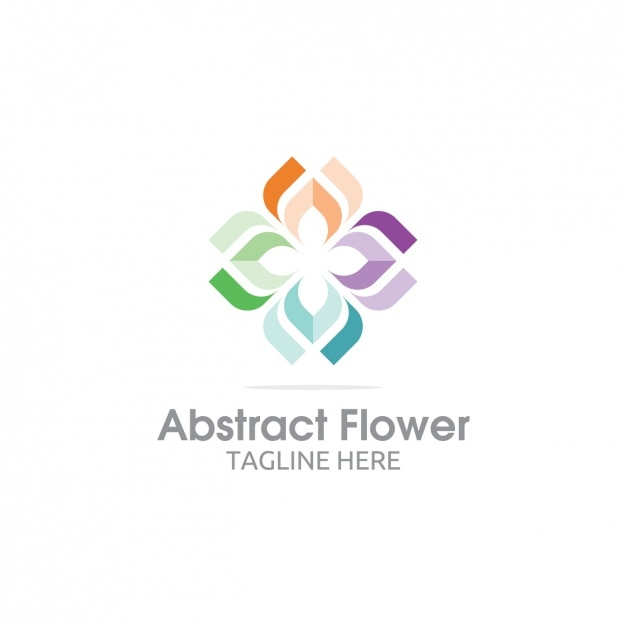 Colorful Abstract Flower Logo Vector Free Download
