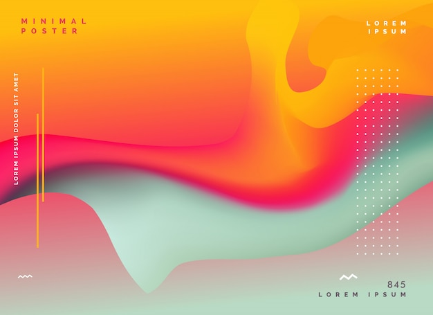 colorful abstract fluid color background Free Vector
