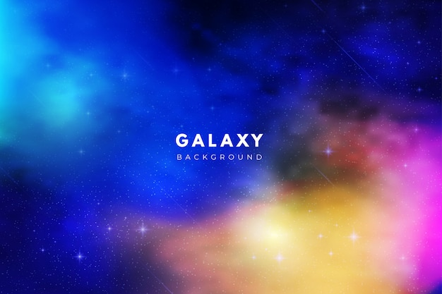 Colorful abstract galaxy background Free Vector