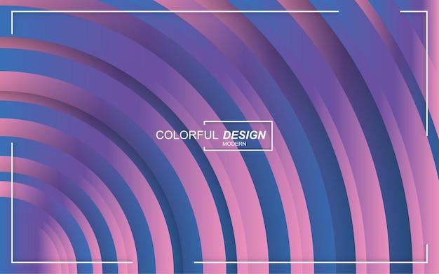 다채로운 추상적 인 기하학적 그라데이션 배경 프리미엄 벡터