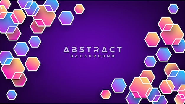 Colorful abstract hexagon background. Premium Vector