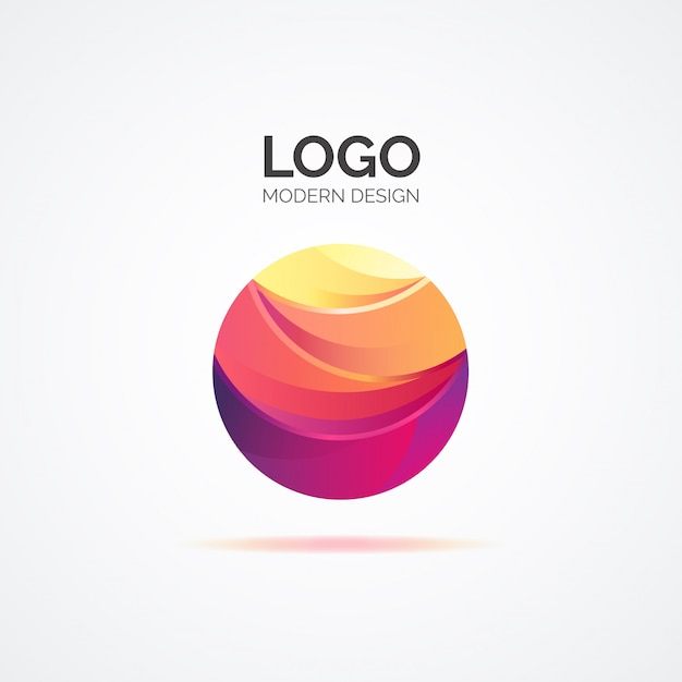 Colorful abstract logo in modern design Free Vector