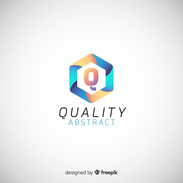 Colorful abstract logo template Free Vector