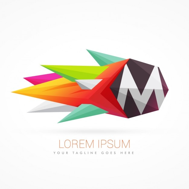 letter m logo vector free colorful abstract logo with letter m vector free 513