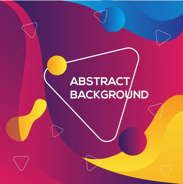 Colorful abstract modern background template Premium Vector