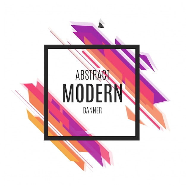 Modern Background Vector Graphic: Colorful Abstract Modern Banner Vector