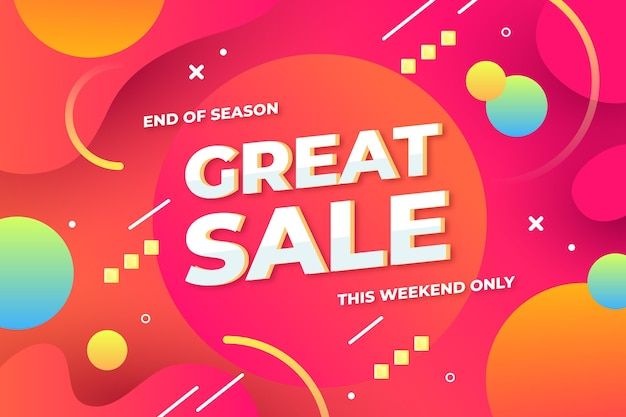 Colorful abstract sale banner Free Vector