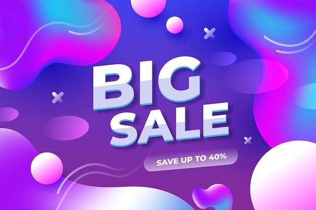 Красочный абстрактный баннер продажи Бесплатные векторы