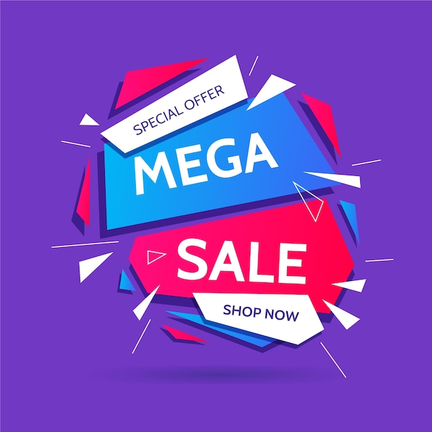 Colorful abstract sales promotion Free Vector