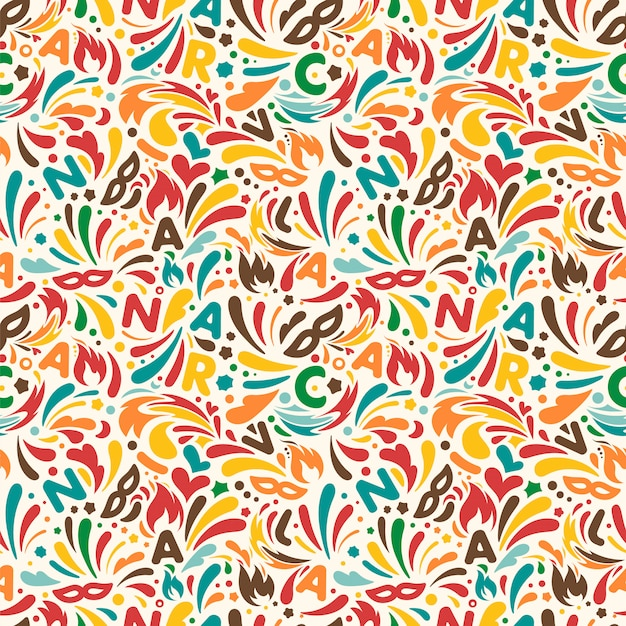 Colorful abstract seamless pattern Premium Vector