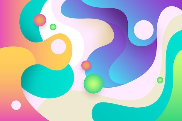 Красочная абстрактная концепция обоев Бесплатные векторы