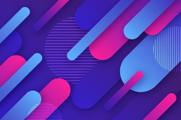Красочный абстрактный дизайн обоев Бесплатные векторы