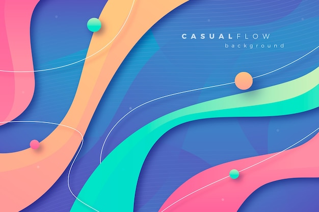 Colorful abstract wallpaper Free Vector