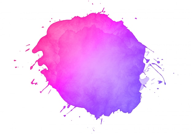 Colorful abstract watercolor stain Free Vector