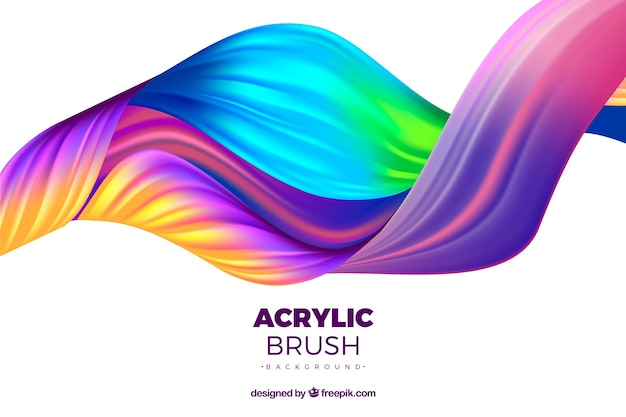 Colorful abstract waves background Free Vector