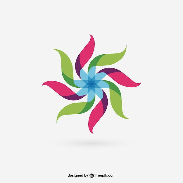 Colorful abstract wind mill Free Vector