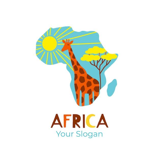 다채로운 아프리카지도 로고 무료 벡터
