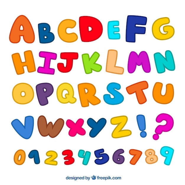Colorful alphabet Premium Vector