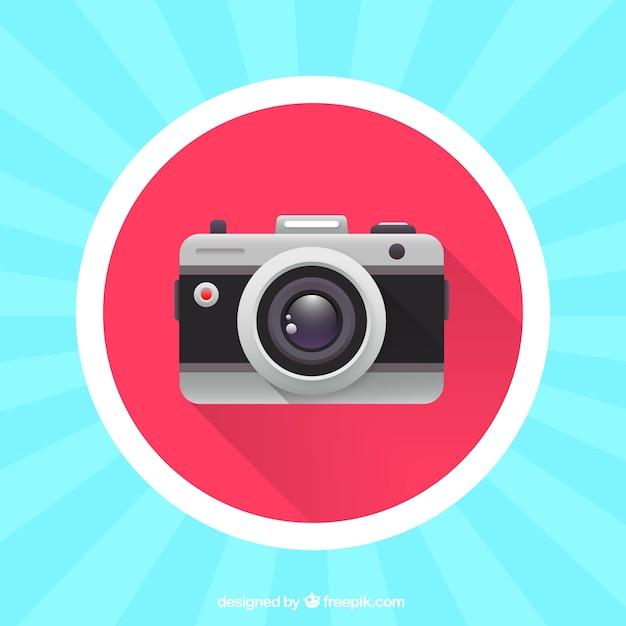 Colorful analog camera Premium Vector