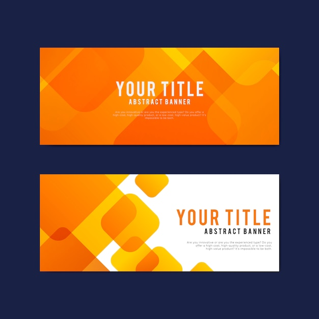Colorful And Abstract Banner Design Templates Vector Free Download