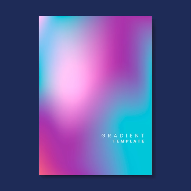 Colorful and blurred gradient template Free Vector