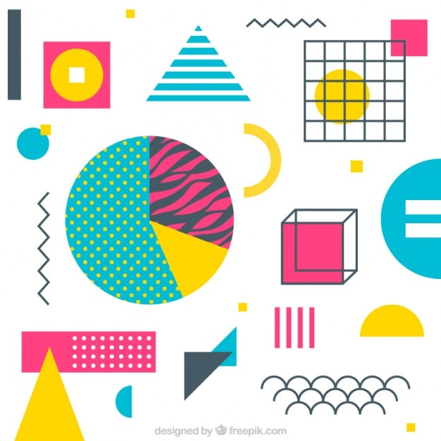 colorful and geometric shapes background vector free