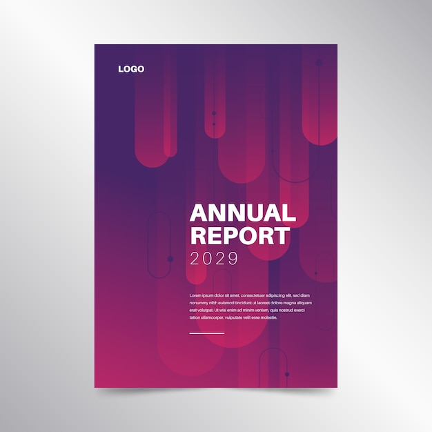 Colorful annual report template concept Free Vector