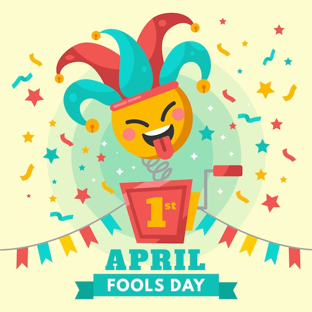 Colorful april fools day celebration concept Free Vector