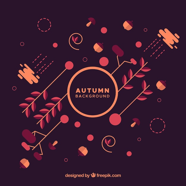Colorful autumn background with modern style