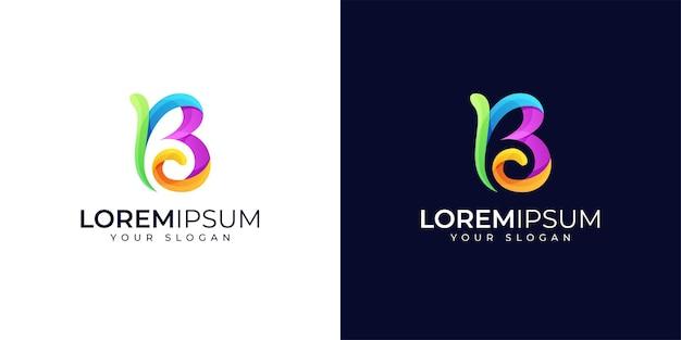 Colorful b logo design inspiration