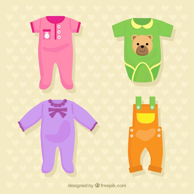 Colorful baby clothing collection