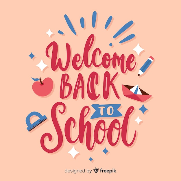 Colorful back to school collection Free Vector