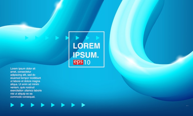 Colorful background, abstract fluid. color covers set. Premium Vector