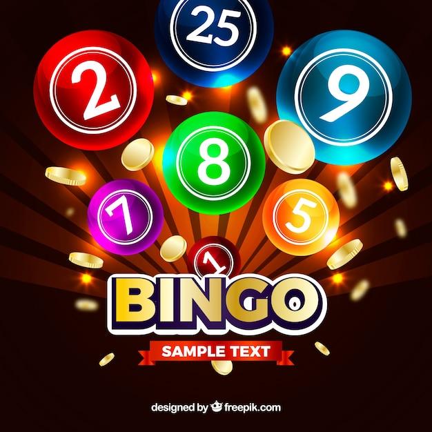 Colorful background of bingo balls Free Vector