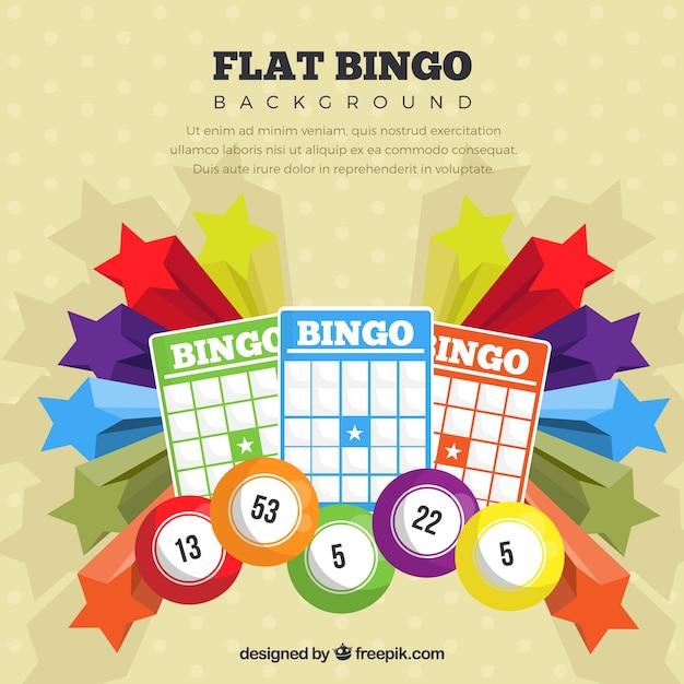 Sfondo colorato del bingo Vettore gratuito