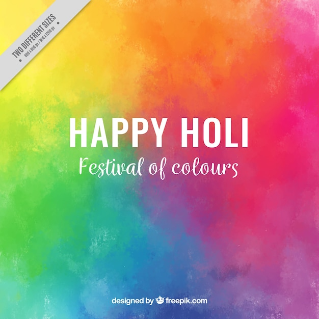 colorful background for holi festival free vector