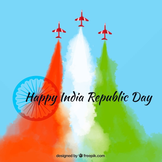 Colorful Background For Indian Republic Day Vector Free Download