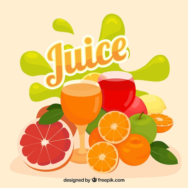 Colorful background of fruit juice