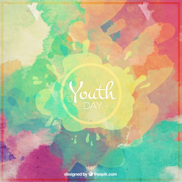 colorful background of youth day vector free download