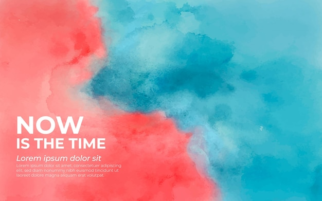 Colorful background in watercolor blue and peach Free Vector
