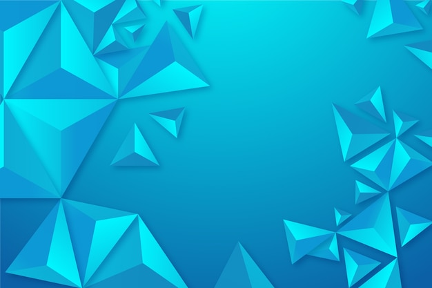 Colorful background with 3d triangles Free Vector