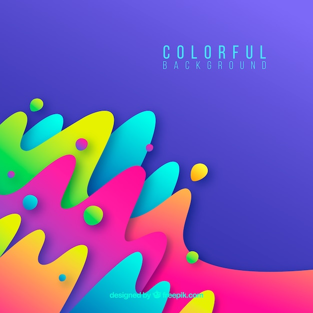 Красочный фон с абстрактными фигурами Бесплатные векторы