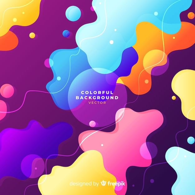 Colorful background with abstract shapes Free Vector