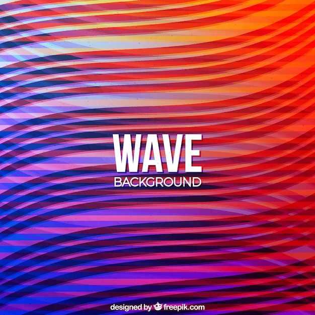 Colorful background with abstract waves