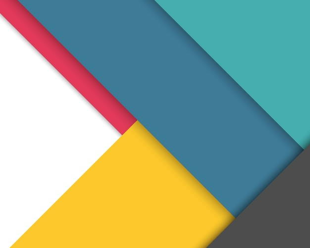Colorful Background With Flat Geometric Shapes Vector
