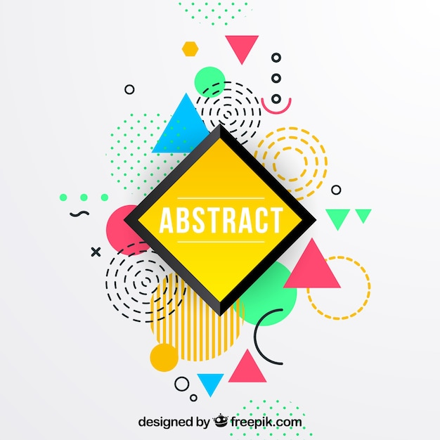 Colorful background with geometric shapes Free Vector