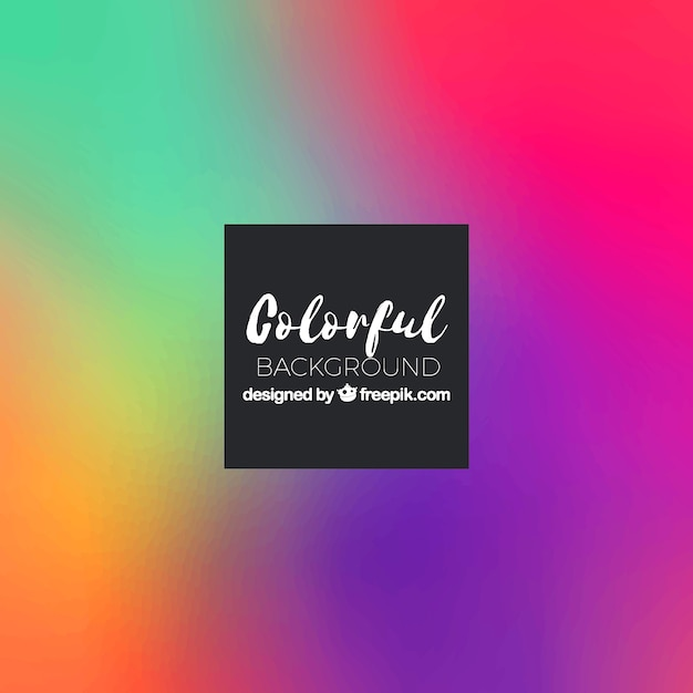 Colorful background with gradient colors