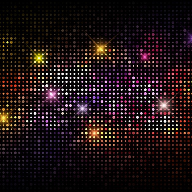 Colorful background with party lights Free Vector