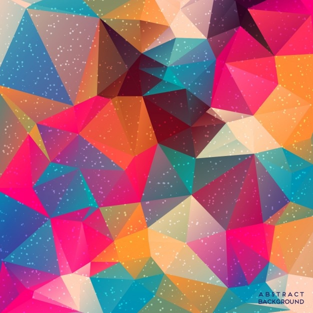 Colorful background with polygonal shapes Vector Free Download