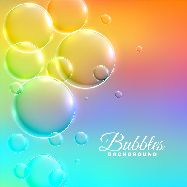 Colorful background with shiny bubbles Free Vector